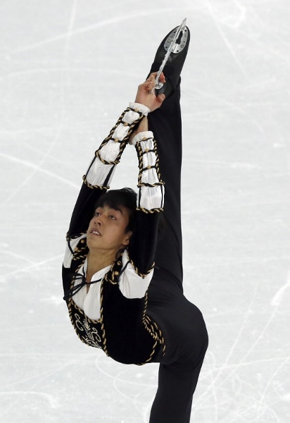 Martinez performs during the Men's Figure Skating Short Program at the Iceberg Skating Palace yesterday. AFPpic