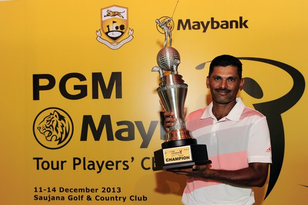 SPONSOR'S PICK: R. Nachimuthu who won the Maybank Tour Players' Championship in December, has been selected by Maybank to play in the Maybank Malaysian Open 2014.
