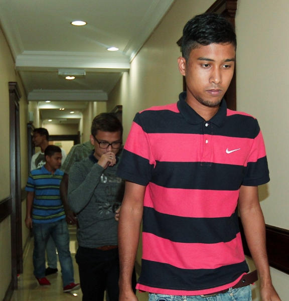 Some of the Kuala Lumpur players leaving Wisma FAM after the verdict today.