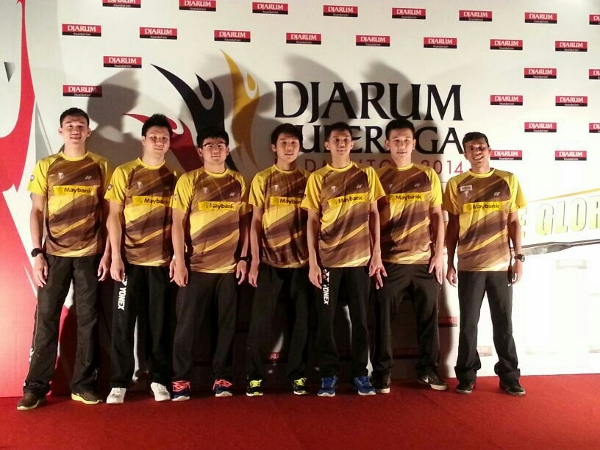 The Malaysian Tigers squad to Indonesia.
