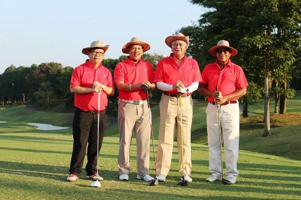 YAB Dato' Sri Mohd Najib Bin Tun Haji Abdul Razak, Prime Minister of Malaysia with participants of the 2014 Astro Media Golf, held at The Mines Resort & Golf Club.