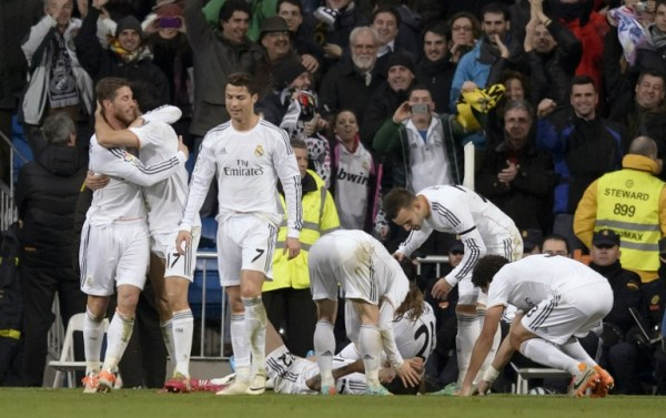 Real Madrid were 3-0 winners against Atletico Madrid in their first leg their Copa del Rey semifinal/AFP pic.