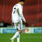 Cristiano Ronaldo leaves the pitch after his red card against Athletic Bilbao/AFP pic.