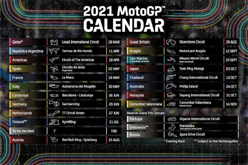 Image result for motogp 2021 calendar